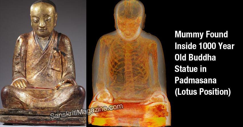 Buddha statue with mummy inside