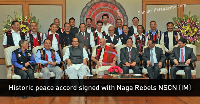 Historic peace accord signed with Naga Rebels NSCN (IM) with PM Modi