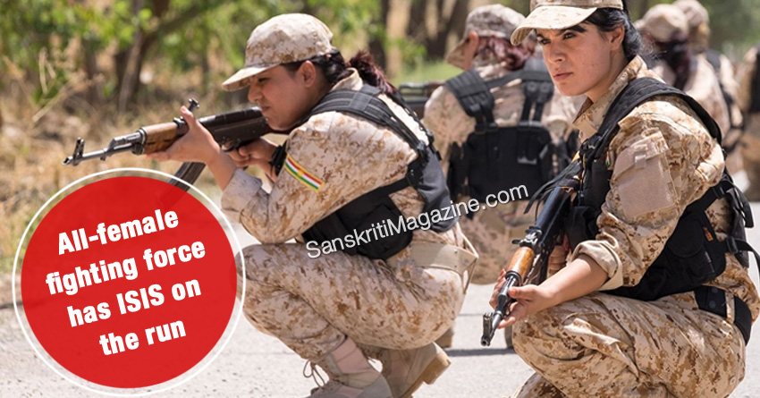 all female fighting force isis