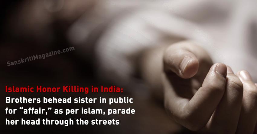 muslim honor killing in india