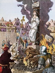 Illustration of Joan of Arc Being Burned at the Stake --- Image by © Leonard de Selva/CORBIS