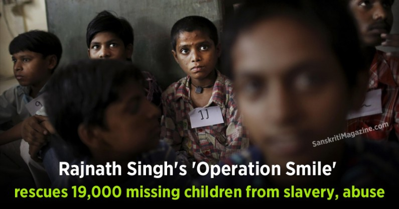 Rajnath Singh's 'Operation Smile' rescues 19,000 missing children from slavery, abuse