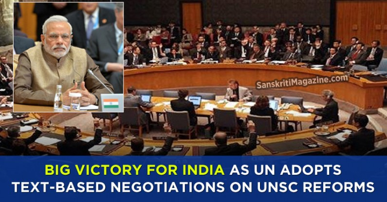 Big victory for India as UN adopts text-based negotiations on UNSC reforms