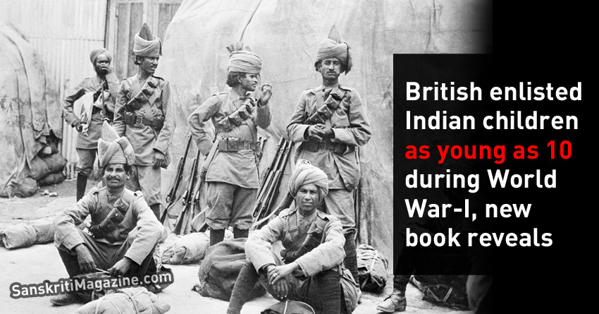 British enlisted Indian children as young as 10 during World War-I, new book reveals