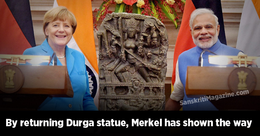 By returning Durga statue, Angela Merkel has shown the way