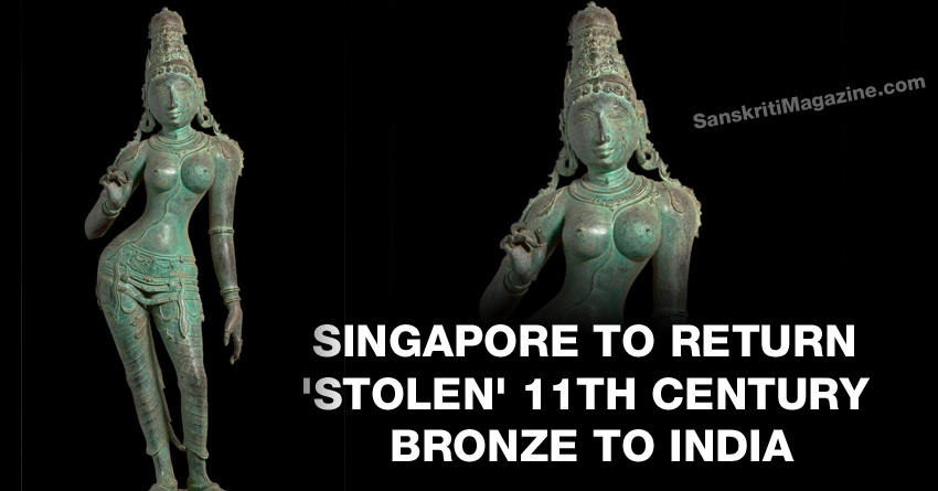 Singapore to return stolen 11th Century bronze to India
