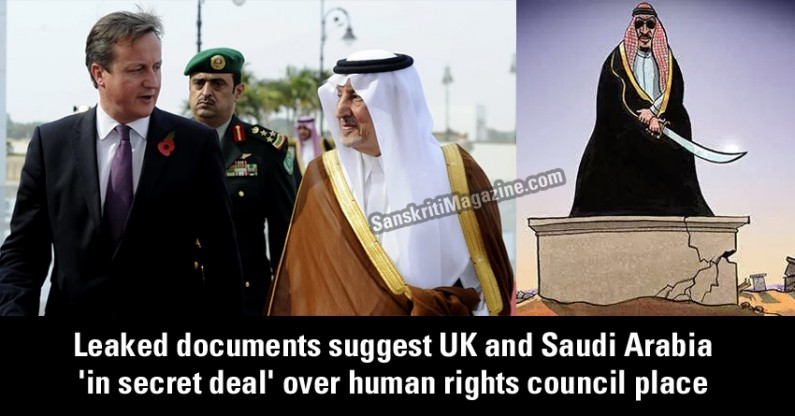 Leaked documents suggest UK and Saudi Arabia 'in secret deal' over human rights council place
