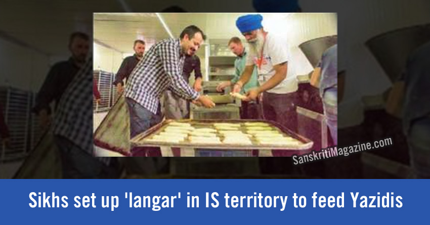 sikhs setup langar for yezidi in syria
