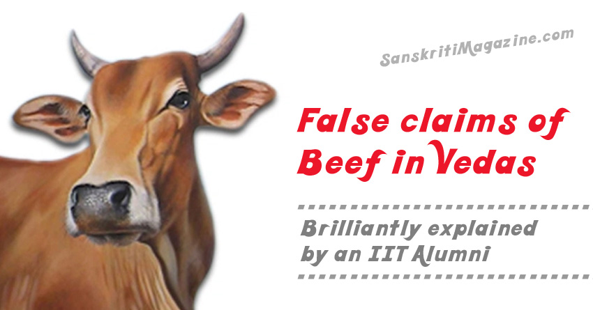 False claims of beef in vedas