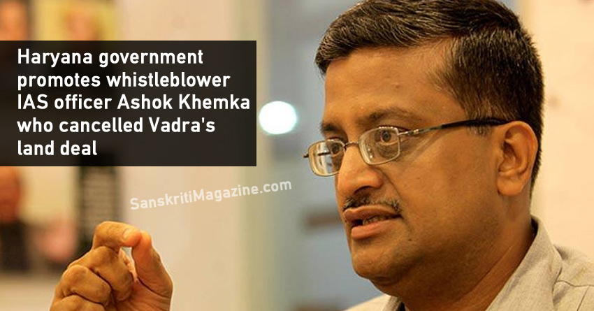 Haryana government promotes whistleblower IAS officer Ashok Khemka