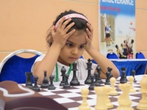 Suhaani playing chess Asian Schools Singapore (1)