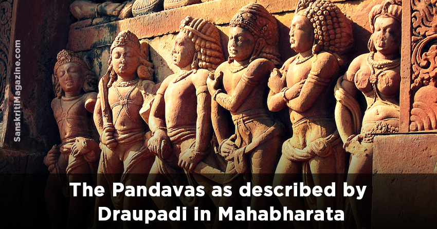 The Pandavas as described by Draupadi in Mahabharata