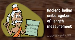 Ancient Indian units system of length measurement