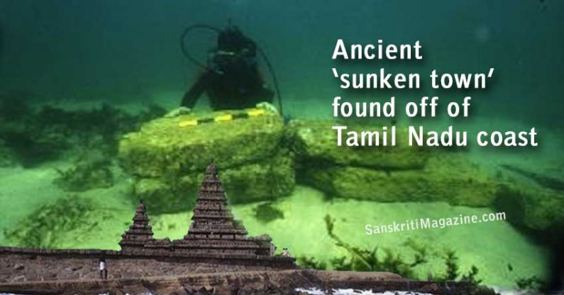 Ancient `sunken town' found off of Tamil Nadu coast