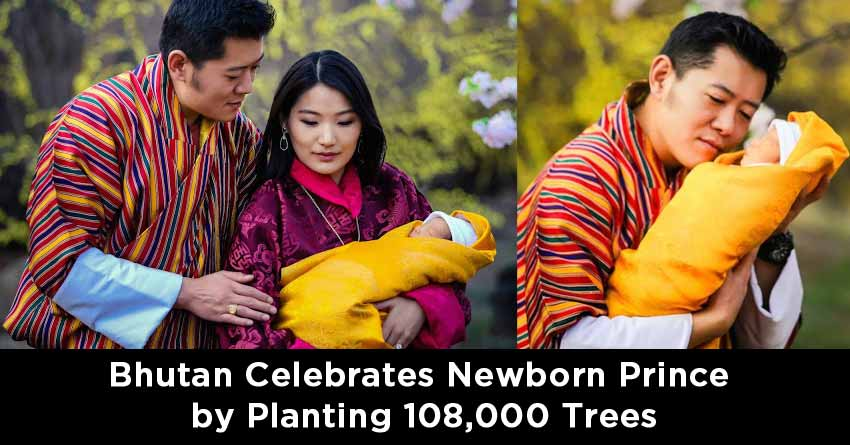 Bhutan Celebrates Newborn Prince by Planting 108,000 Trees