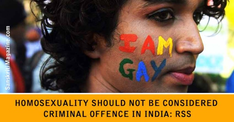 Homosexuality should not be considered criminal offence in India: RSS