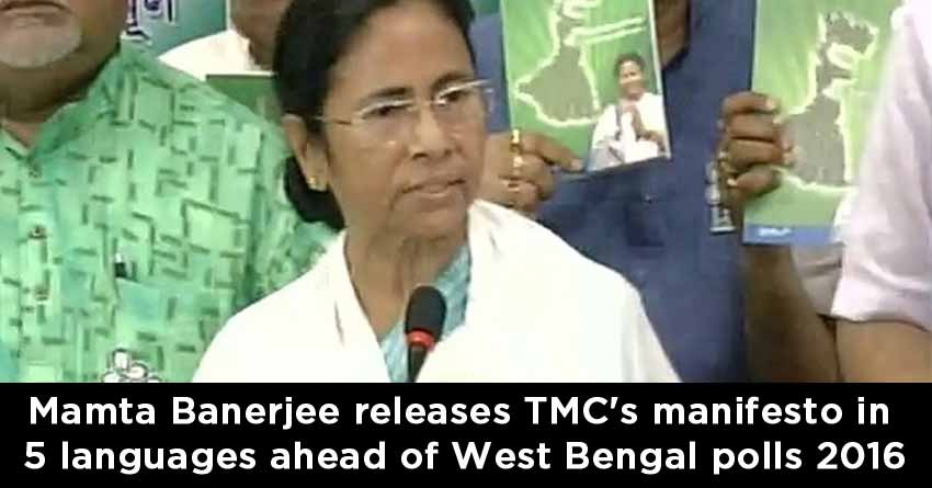 Mamta-Banerjee-releases-TMC's-manifesto-in-5-languages-ahead-of-West-Bengal-polls-2016