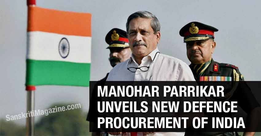 Manohar-Parrikar-unveils-new-defence-procurement-of-India