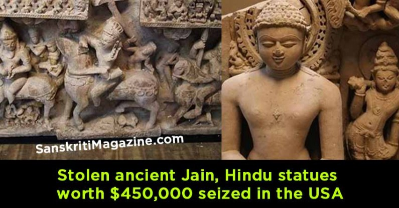 Stolen ancient Jain, Hindu statues worth $450,000 seized in the USA