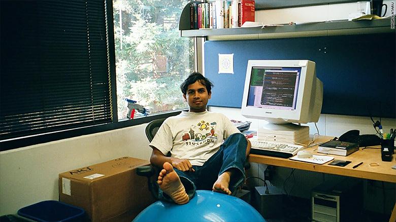 Kataru in his office in Google in 2001.