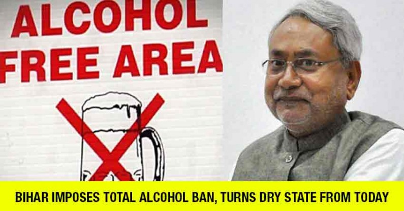 Bihar imposes total alcohol ban, turns dry state from today