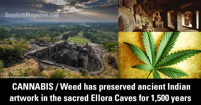 CANNABIS/Weed has preserved ancient Indian artwork in the sacred Ellora Caves for 1,500 years