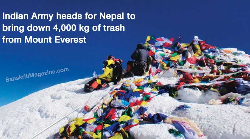 Modi's Swachh Bharat set to scale Everest: Indian Army heads for Nepal to bring down 4,000 kg of trash