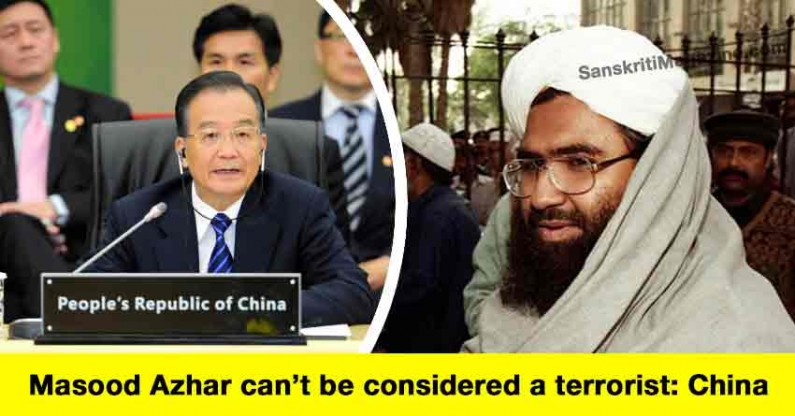 China defending veto on Masood Azhar, says he can't be considered a terrorist