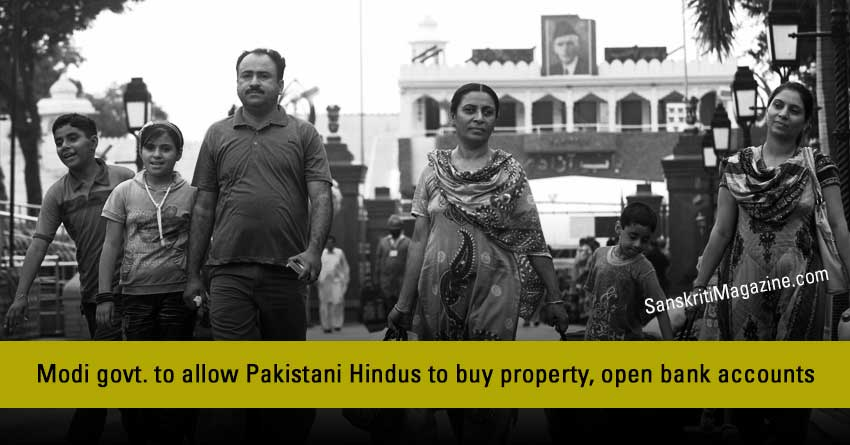 Modi-govt.-to-allow-Pakistani-Hindus-to-buy-property,-open-bank-accounts