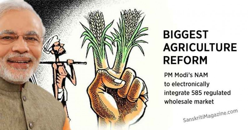 Biggest agriculture reform: PM Modi's NAM to electronically integrate 585 regulated wholesale market