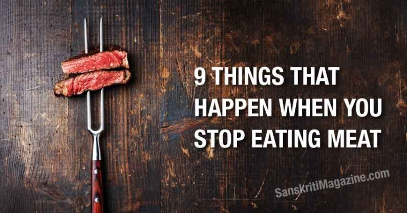 What happen when you stop eating meat