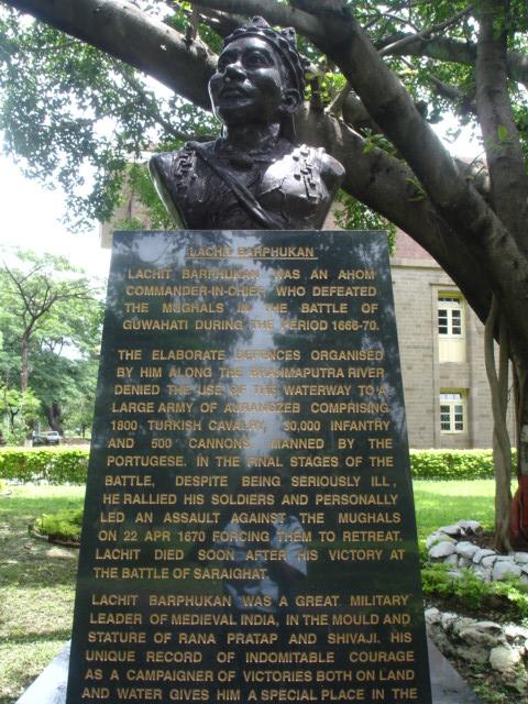 Statue of Lachit Borphukan at National Defense Academy : India