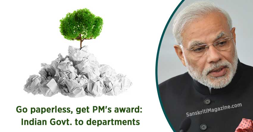 Go-paperless,-get-PMs-award-Indian-Government-to-departments