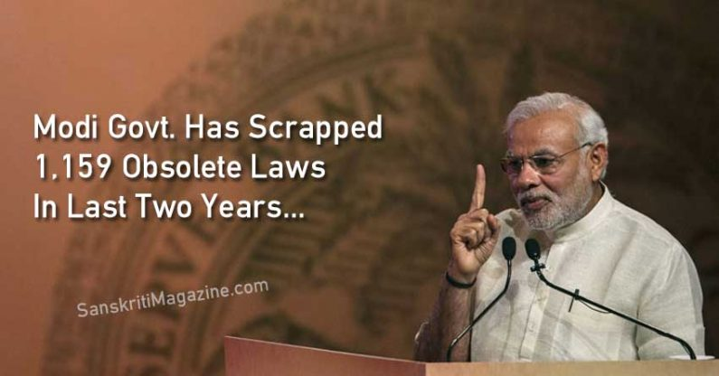 Modi Govt. Has Scrapped 1,159 Obsolete Laws In Last Two Years