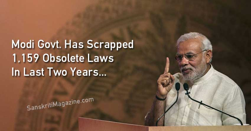 Modi-Govt.-Has-Scrapped-1,159-Obsolete-Laws-In-Last-Two-Years