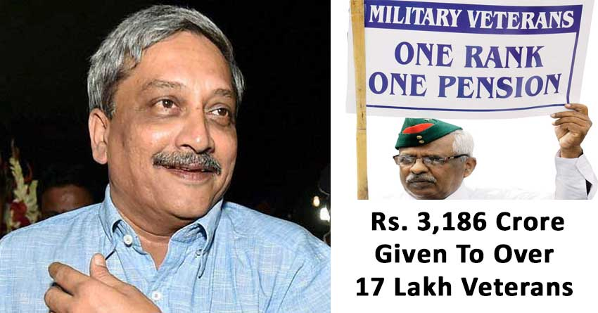 Rs. 3,186 Crore Given To Over 17 Lakh Veterans
