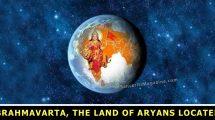 Brahmavarta, the land of Aryans located