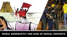 Moral bankruptcy and rise of sexual perverts
