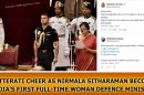 Twitterati-cheer-as-Nirmala-Sitharaman-becomes-India's-first-full-time-woman-defence-minister