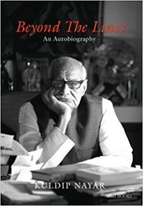 Beyond the lines: An autobiography book extracts Kuldip Nayar;