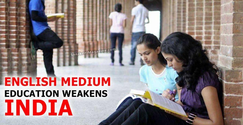 English-Medium-Education-Weakens-India