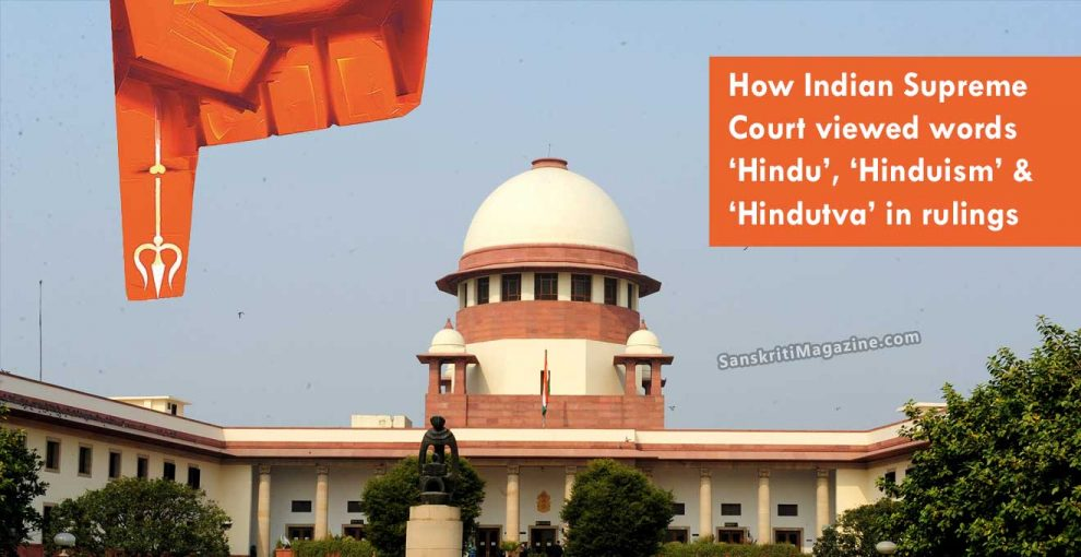 How-Indian-Supreme-Court-viewed-words-'Hindu',-'Hinduism'-&-'Hindutva'-in-rulings