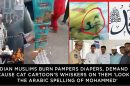 Indian-Muslims-burn-Pampers-Diapers