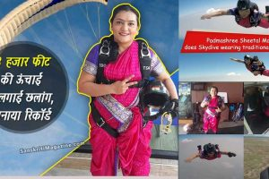 Pune-Woman-Shital-Mahajan-Skydives-In-Saree,-Sets-New-Record