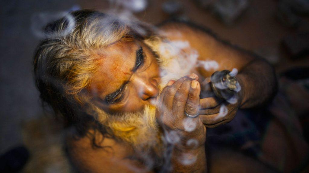 sadhu smoking ganja weed