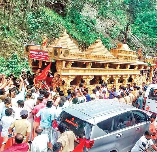 VHP's Ram Rajya Rath Yatra reaches Tamil Nadu amid protests by Oppn, 300 arrested for blocking chariot