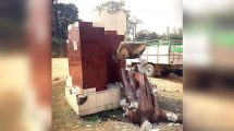 Two Lenin statues toppled