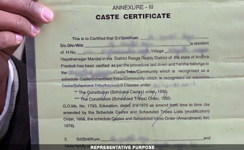 fake caste certificate