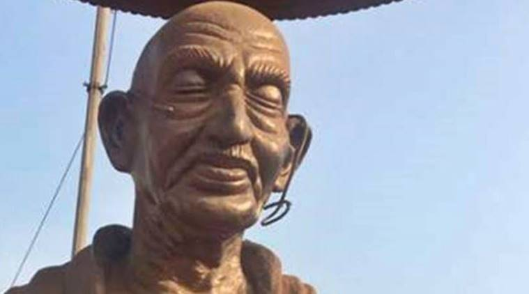 Gandhi statue vandalised