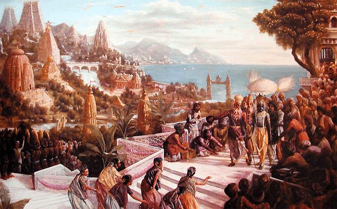 Krsna in Dwarka
